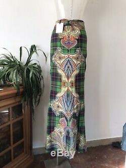 Stella Jean FW 2015/16 Silk Printed Long Skirt, Size IT44, BNWT
