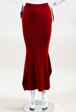 Stella McCartney NWT Red Knit Side Slit Maxi Skirt SZ 44
