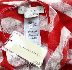 Stella Mccartney Runway Striped Cotton Mesh Maxi Skirt Dress (44) Nwt