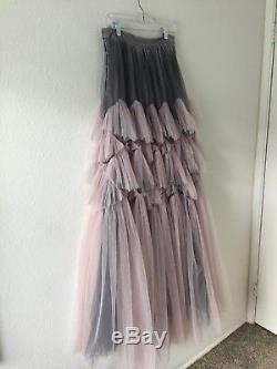 Stunning Dries Van Noten Ss16 Purple Tulle Skirt Sz 36