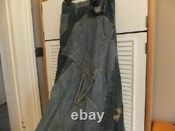 Stunning Ralph Lauren Early 00's Denim Long Tall Maxi Skirt Rrp £ 750
