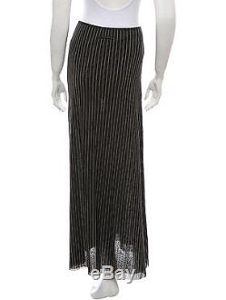 Stylish New Jean Paul Gaultier Femme Pinstripe Skirt In Iconic Mesh Fabric