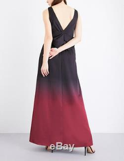 TED BAKER black red ombre bow back long skirt maxi dress evening gown party 2 10