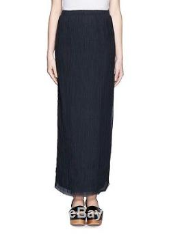 THE ROW'Ahbria' Ink Green Crinkle Silk Georgette Long Midi Maxi Skirt, XS $1190