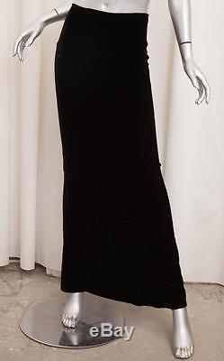 THE ROW Classic Womens Black Velvet Long Maxi Straight Sheath Skirt S