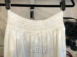THE ROW Long White Cotton Blend Betsy Skirt Sz XS $1190 NWT