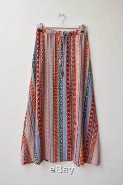 TIGERLILY Ajrakh Bindi Red Ethnic Print Boho Gypsy Festival Maxi Skirt AU8