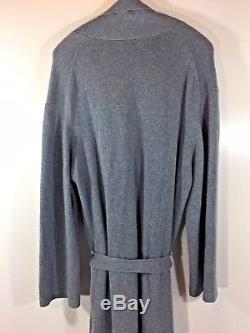 TSE Women's Cashmere Robe Color Gray Maxi Length