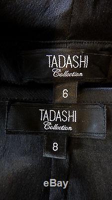 Tadashi Collection Black 3/4 Sleeve Formal Top & Long SkirtSz-6-8CLASSY