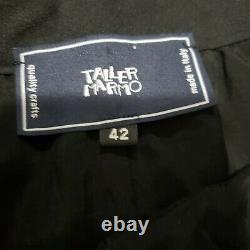 Taller Marmo La Mar Fil Coupé A-line Skirt navy blue maxi 42 US 6 Farfetch Italy