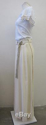 Tara Jarmon Maxi Rock lang creme Schlitze D38 F40 long skirt with belt ID5663