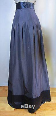 Temperley London Palais navy blue long maxi skirt, US size 10