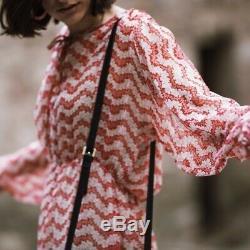 The Kooples Amazing Red Printed Silk Dress MIDI Long Maxi Midaxi Skirt Xs 6 Xxs