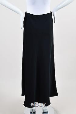 The Row NWT $1090 Black Fluted Annistyn Maxi Skirt SZ XS