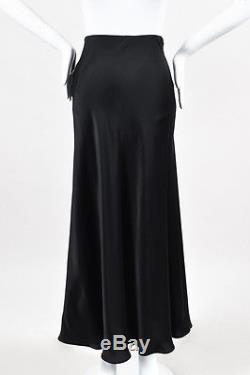 The Row NWT $1090 Dark Charcoal Satin Annistyn Maxi Skirt SZ M