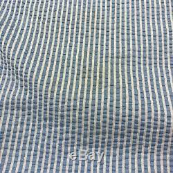 Thom Browne Womens 2 Piece Top Skirt Maxi Set Co-ord Long Blue Striped SAMPLE S