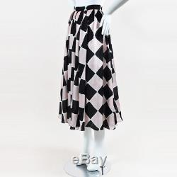 Tome NWT $1375 Pink Black White Silk Printed Dirndl Skirt SZ 4
