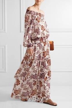 Tory Burch Indie Maxi Skirt Resort 2017 NWT 12 XL New Ivory Hopewell