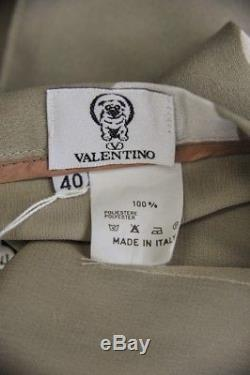 VALENTINO Womens Tan & Cream Polka-Dot Straight Sheath Long Maxi Skirt 40/4