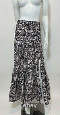 VERONICA BEARD Serence Batik Print Maxi Skirt in Black Multi Size 4 $395