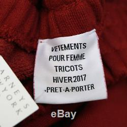 VETEMENTS Demna Gvasalia full length pierced ring maxi sweatshirt skirt M NEW