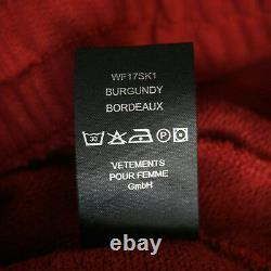 VETEMENTS Demna Gvasalia full length pierced ring maxi sweatshirt skirt S NEW
