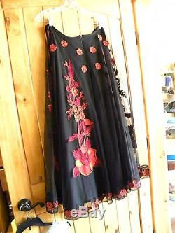 Vintage Collection XL Embroidered & Beaded Full Length Skirt