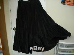 VINTAGE Marc Jacobs 1st Seasons Own Label Size 8 Long Black Silk Skirt 8Os