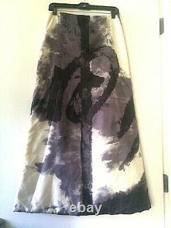 VIVIENNE TAM maxi A-line wind breaker abstract print RARE skirt galliano miu 4-6