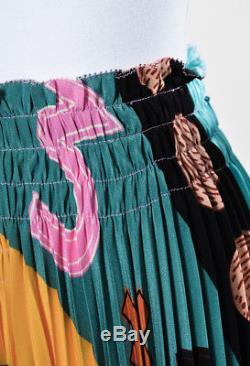 Valentino NWT $2950 Multicolor Printed Pleated Maxi Skirt SZ 4