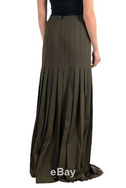 Versace Versus Wool Green Women's Maxi Skirt Sz XS S M L