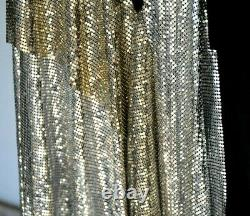 Versus Versace Oroton Chainmail Mesh Embellished Black Dress Skirt US 2 / IT 38
