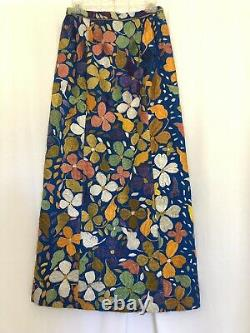 Vintage 1960s Oscar de la Renta Hand Embroidered Skirt RAZOOKS 28 Waist Mexican