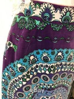 Vintage 70's Emilio Pucci Velveteen Maxi Skirt Size 12