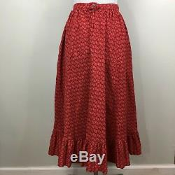 Vintage 70s Ralph Lauren Western Wear label Sz 10 Prairie long maxi skirt