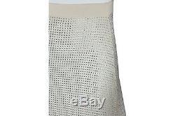 Vintage CELINE Ivory Cashmere Long Crystal Embellished Maxi Skirt Size SMALL