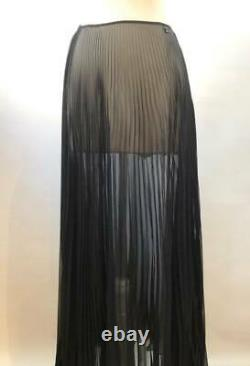 Vintage Chanel Pleated Maxi Skirt Size S