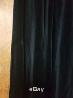 Vintage Chloe black velvet very long maxi skirt 27 waist 43.5 long
