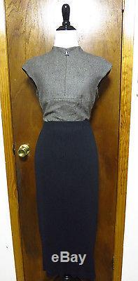 Vintage Issey Miyake Black Pleated Maxi skirt Sz 2/S