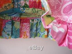Vintage Lilly Pulitzer Reversible Patchwork Long Maxi Skirt EUC 14 16
