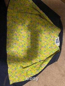 Vintage Lot 2 Patchwork Denim Dotti Didit Vest & Maxi Skirt Sz 10 Appliqué 70s