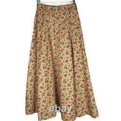 Vintage Ralph Lauren Country Prairie Maxi Floral Print Skirt 8