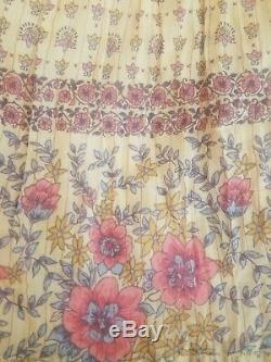 Vintage Spell & the Gypsy Collective Designs Desert Rose Maxi Skirt Blush Sz XS