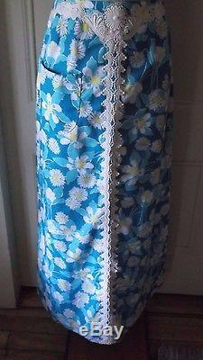 Vintage The Lilly Lilly Pulitzer Long Maxi Screenprinted Lace Skirt womens 8