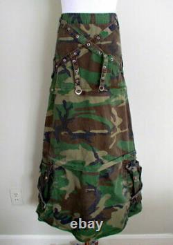 Vintage Tripp NYC Daang Goodman Camo Skirt Zip Off Maxi Mini Punk Goth 90s Y2K M
