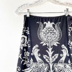 Vivienne Tam Womens Vtg. Sz 2 US M Asian Lotus Birds Maxi RARE Long Skirt