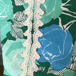 Vtg Rare The Lilly Pulitzer 14 M Rose Floral Print 1960's Long Maxi Skirt Blue