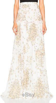 WOW! New Tags Giambattista Valli Daisy Print georgette silk maxi skirt $3250 m