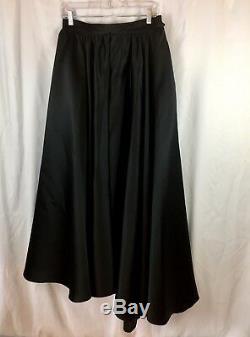 Wayne Clark Black Satin full maxi evening skirt long party skirt Size US12/Ca14