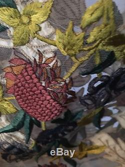 Whimsical ANTHROPOLOGIE Varon & Bahl Embroidered Tulle Skirt NWT Large $498